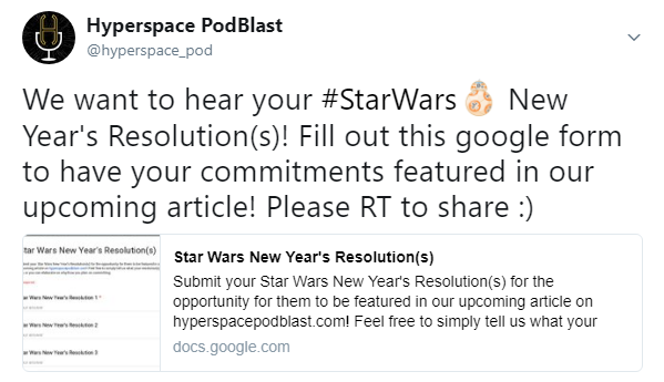 Star Wars New Year's Resolutions – Hyperspace PodBlast